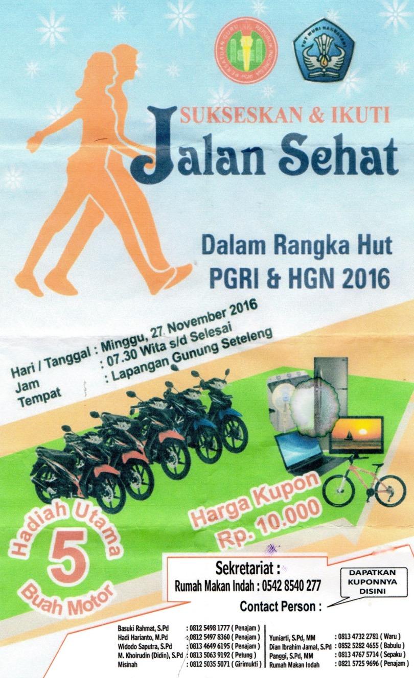 PGRI PPU Gelar Jalan Sehat, Hadiah Utama 5 Sepeda Motor
