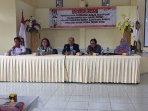 KPU PPU Laksanakan  Sosialisasi Pemeriksaan Kesehatan Balon  Bupati dan Wakil Bupati