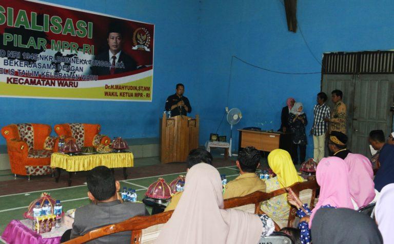 MPR RI Gelar Sosialisasi Empat Pilar Kebangsaan di Kecamatan Waru