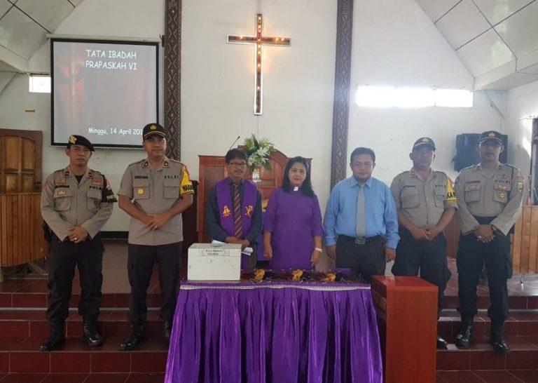 Wakapolres PPU Ajak Para Jemaat Gereja Untuk Datang Menggunakan Hak Suara di Pemilu 2019