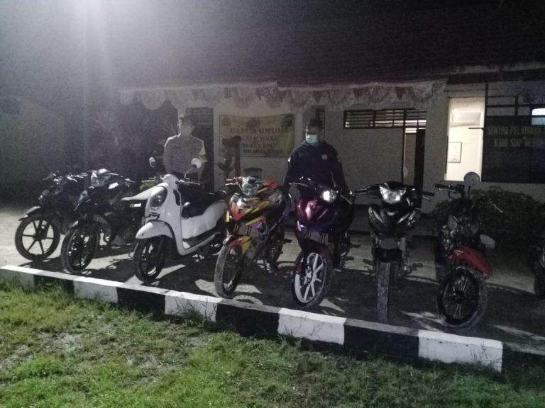 Bubarkan Balap Liar Polsek Waru, Amankan 7 Unit Sepeda Motor