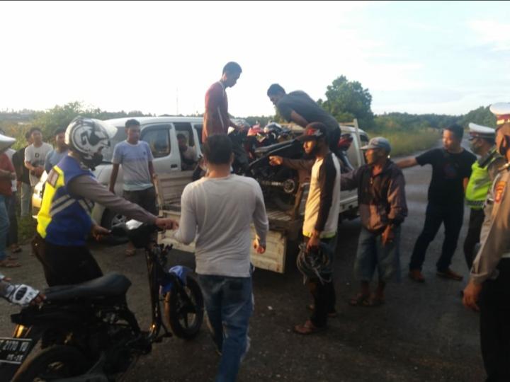 Aksi Balap Liar Resahkan Warga, 19 Unit Motor Berhasil Diamankan Satlantas Polres PPU