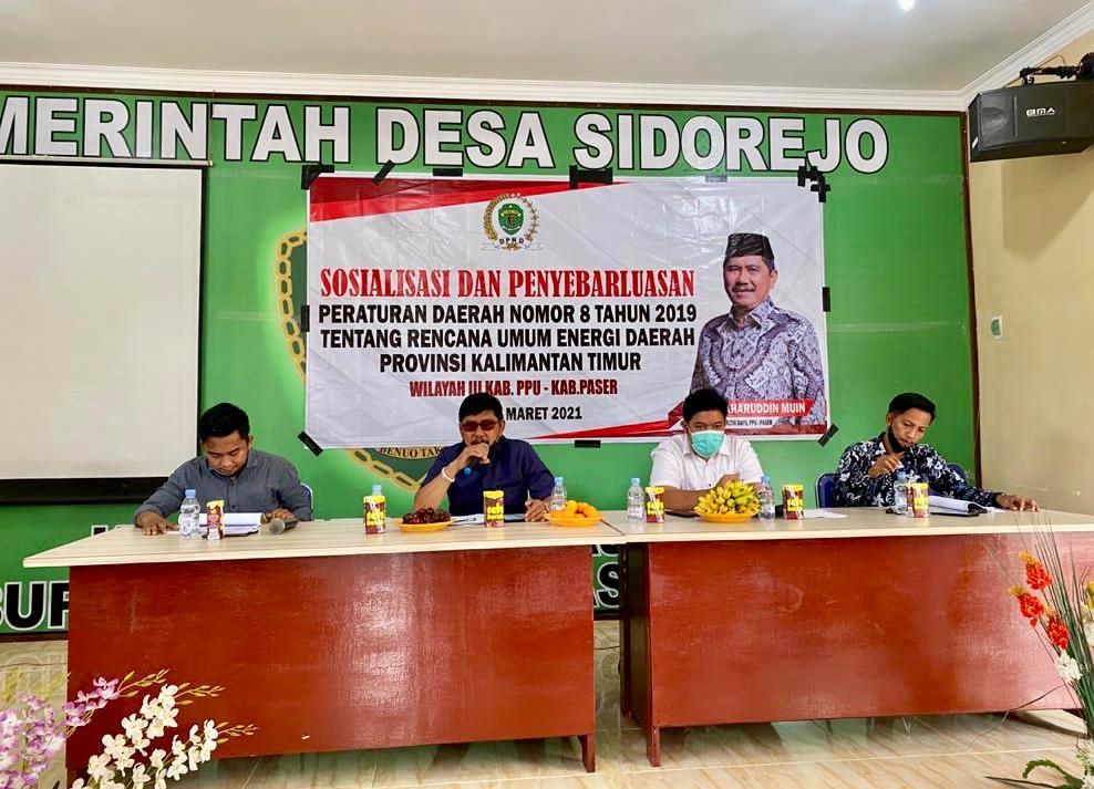 Baharuddin Muin, Sosialisasikan Perda Nomor 8 Tahun 2019
