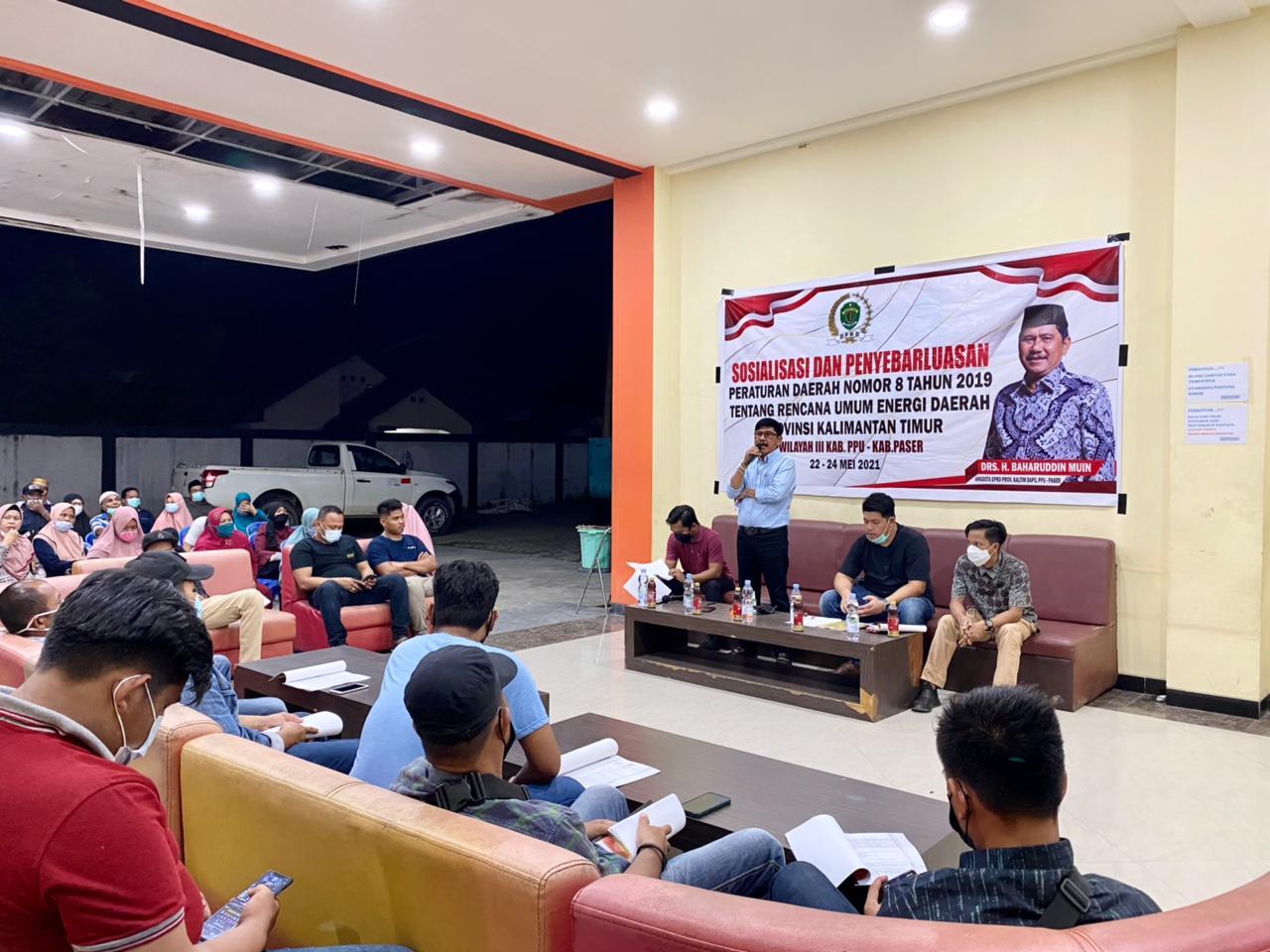 Baharuddin Muin, Bersama 2 Pemateri Berikan Penjelasan  REUD
